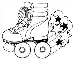 Free roller skating clipart images.