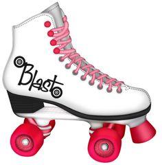 Vintage Roller Skate Clip Art.