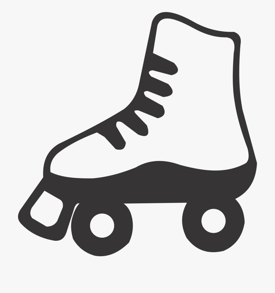 Skate Clipart Black And White.
