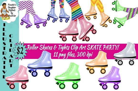 Roller Skating Party ClipArt ONLY $2.