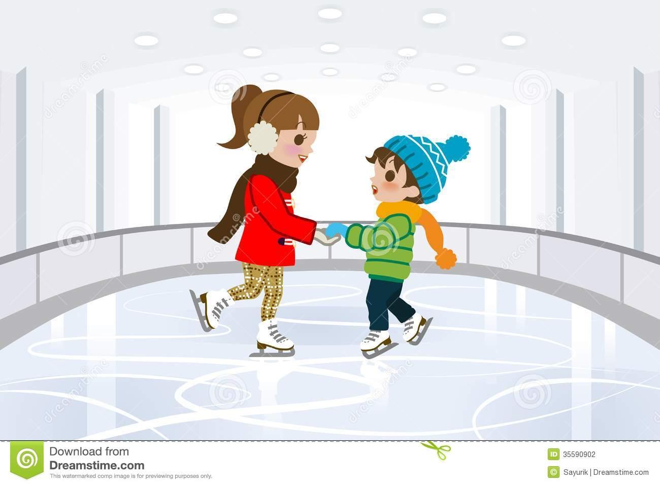 1339 Skating free clipart.