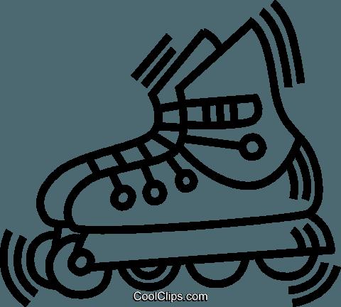 roller blade Royalty Free Vector Clip Art illustration.