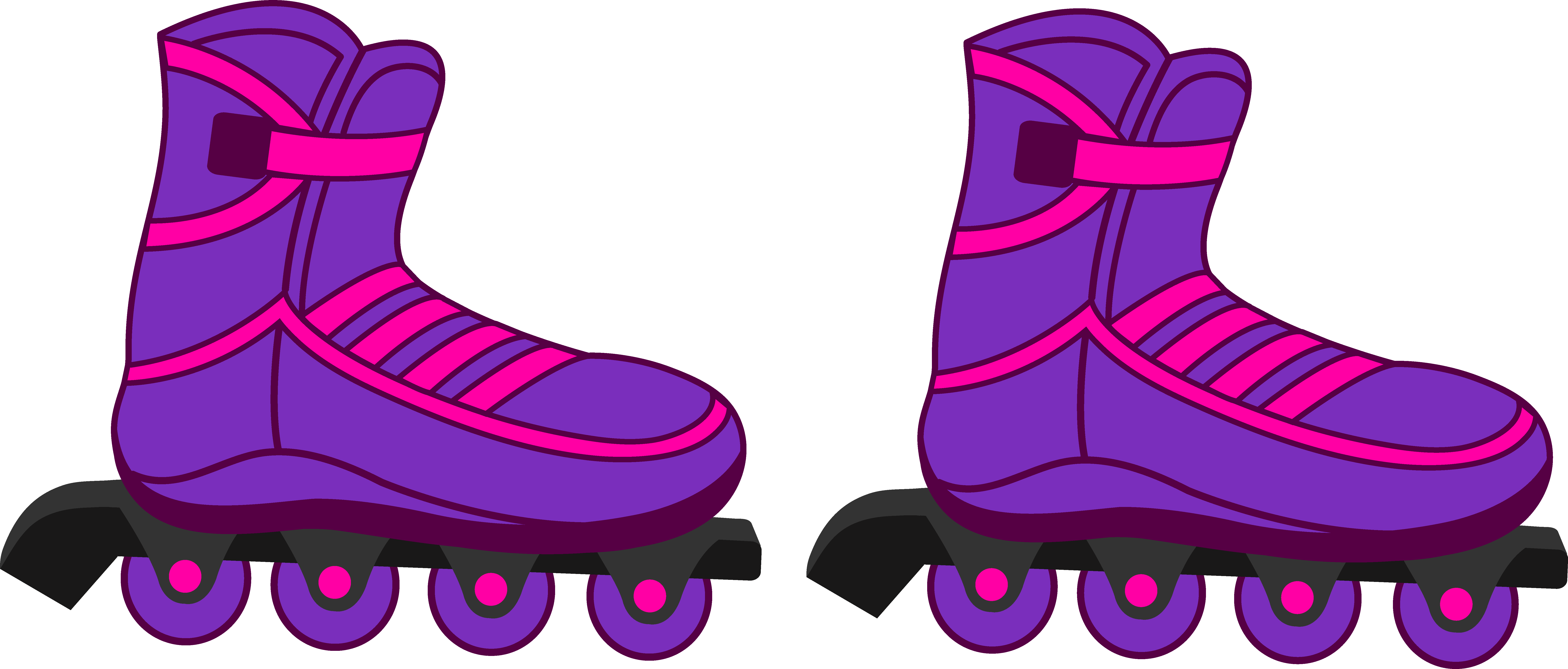 Roller blades clipart.