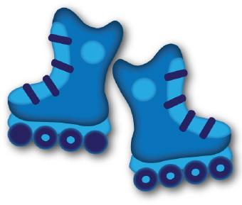 Pair Roller Skates Clipart.