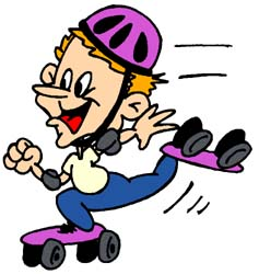 Disco Roller Skating Clipart.