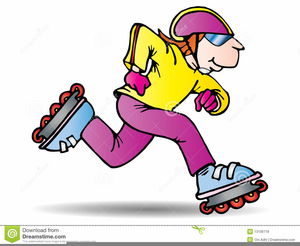 Rollerskating Clipart.