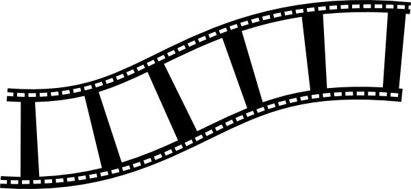 Movie camera and film clipart.