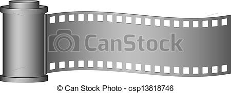 EPS Vector of Camera roll film in grey design on white background.