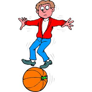 Rolling Pumpkin Clipart.