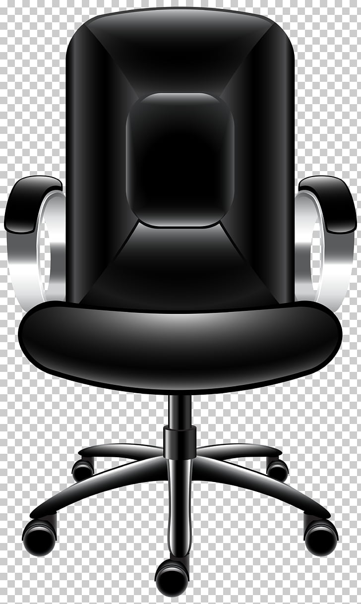 Office chair Table , Office Chair Transparent , black.