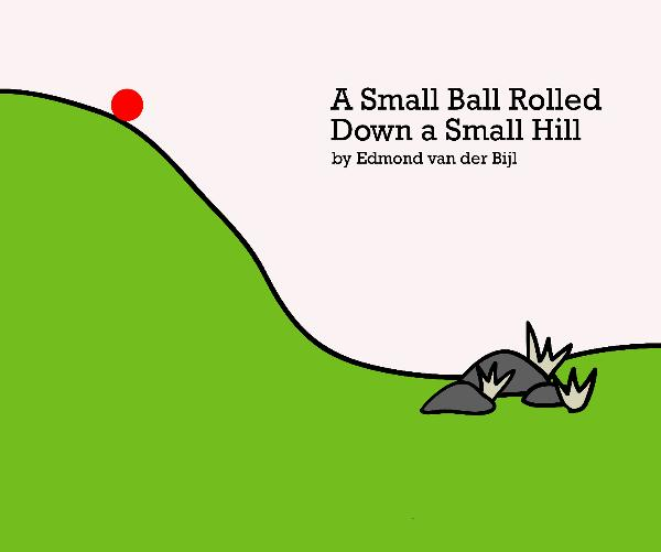 Ball Rolling Down a Hill Clip Art.
