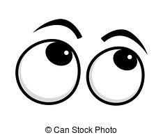 Eye roll clip art.