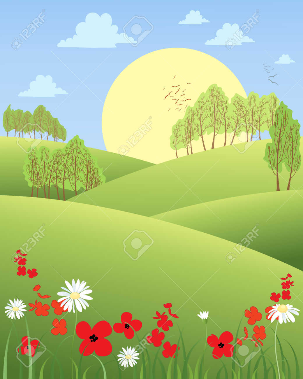Rolling hills clipart Clipground