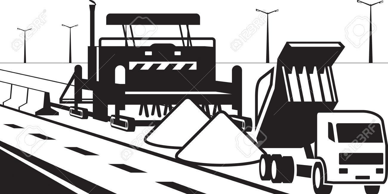 Concrete Road Pavement.