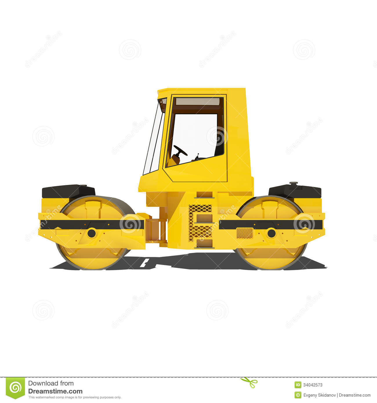 Asphalt Paving Machine Stock Illustrations.
