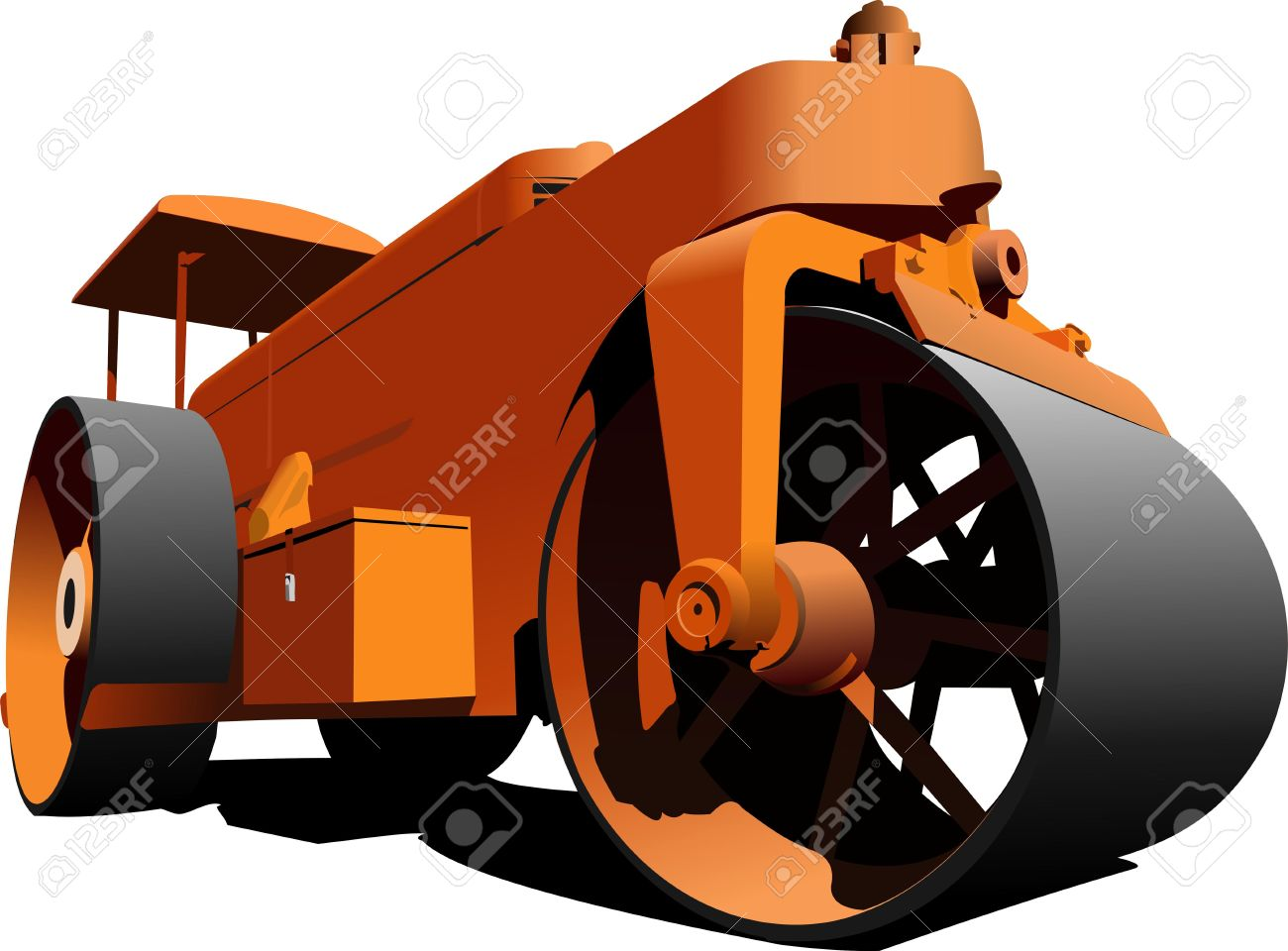 Road Roller Royalty Free Cliparts, Vectors, And Stock Illustration.