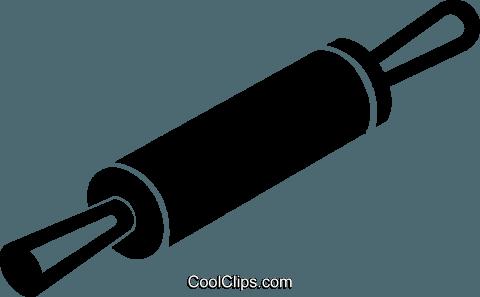 rolling pin Royalty Free Vector Clip Art illustration.