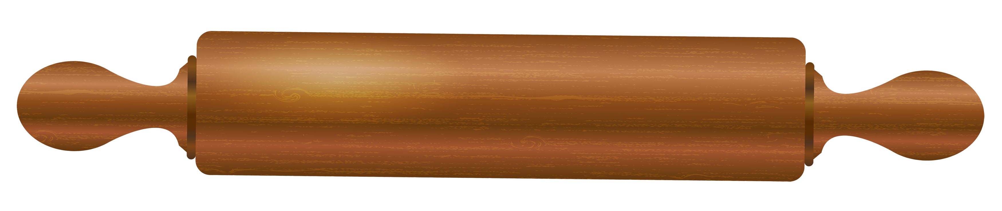 Wooden Rolling Pin PNG Clipart.
