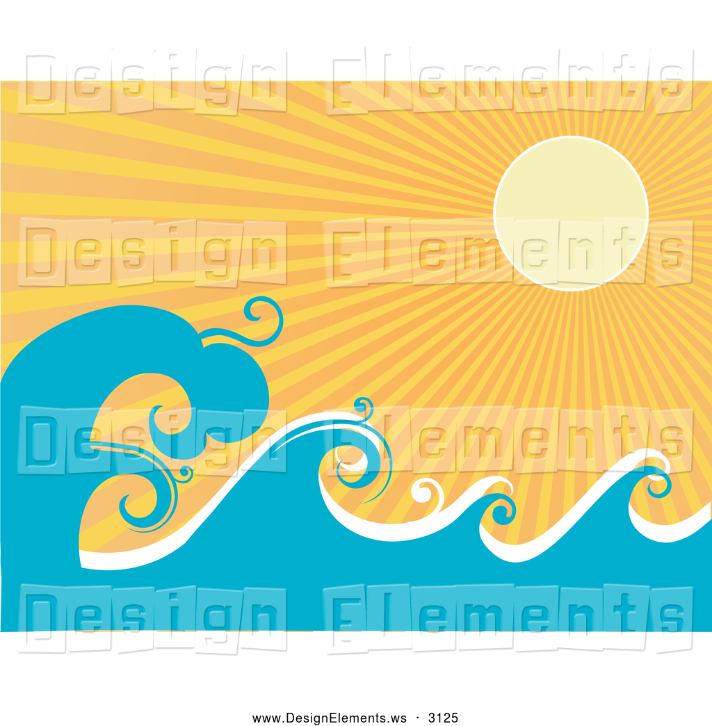 Rolling waves clipart.