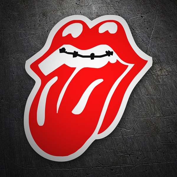 Rolling Stones Mouth sticker.