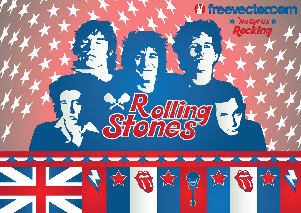 Rolling stones band mouth clipart.