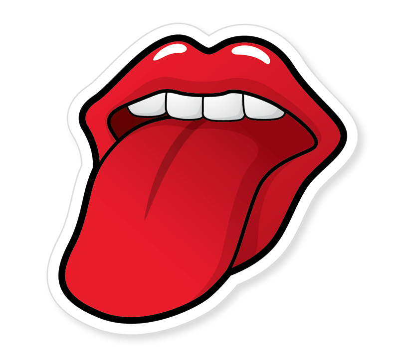 Create a Rolling Stones Inspired Tongue Illustration.