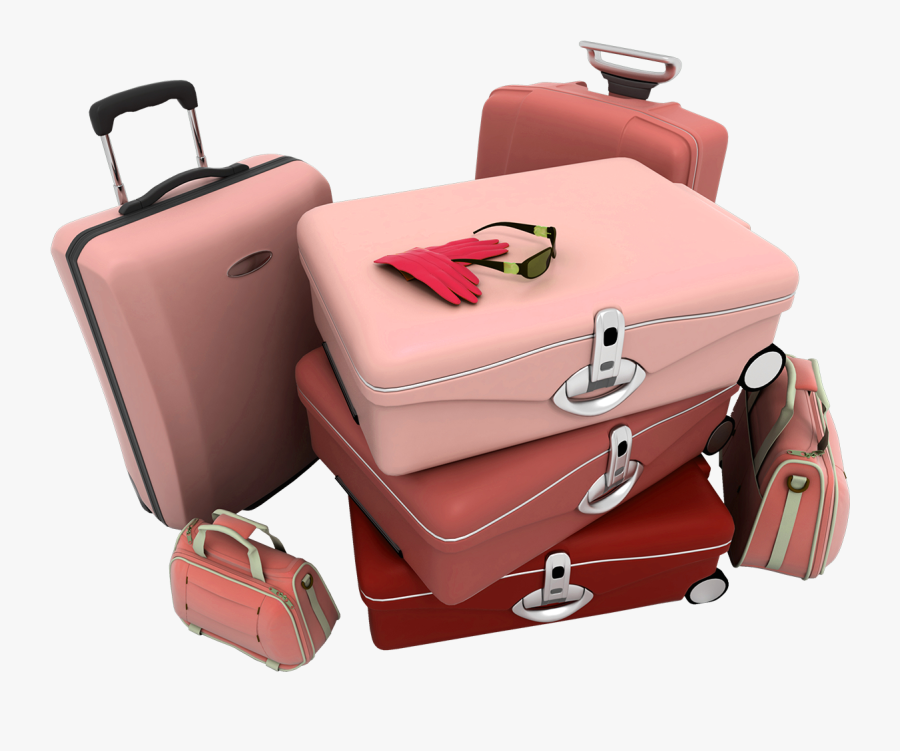 Transparent Rolling Suitcase Clipart.