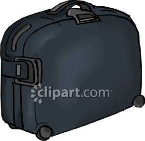 A Rolling Black Suitcase.