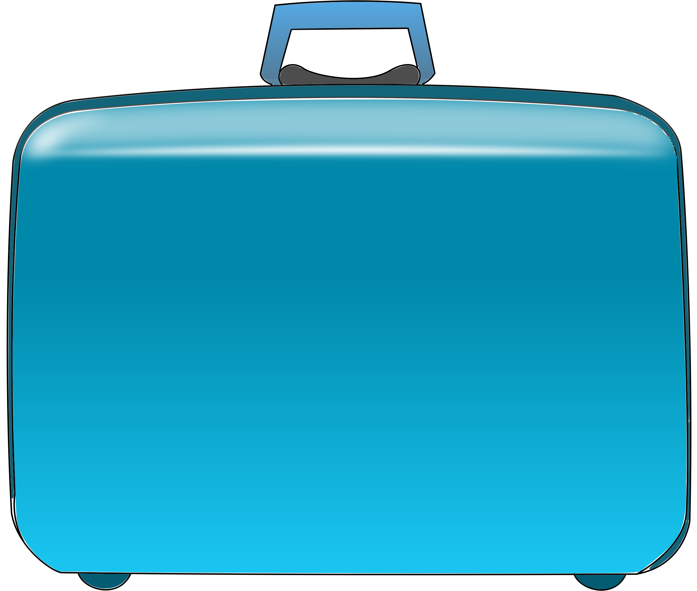 Rolling Suitcase Clipart.