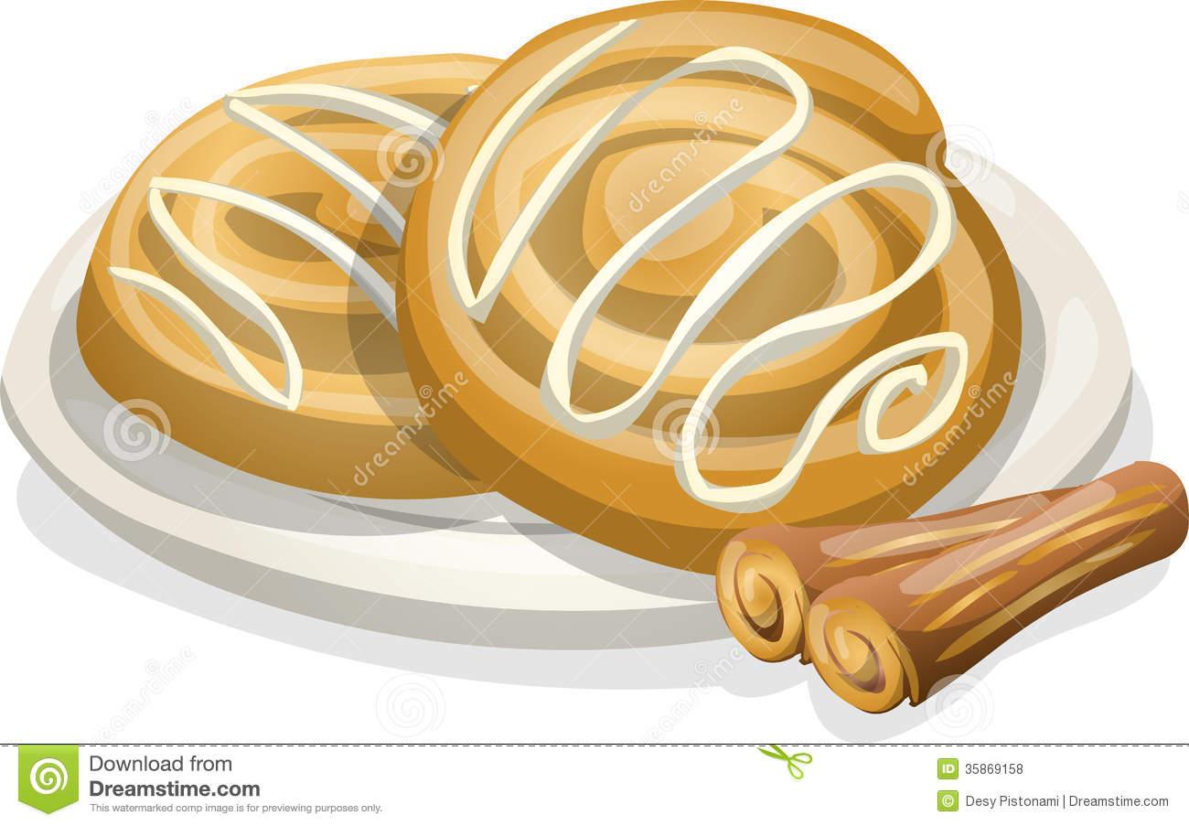 Cinnamon Roll Clipart.