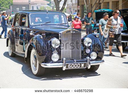Vintage Rolls Royce Car Headlight Stock Photos, Royalty.