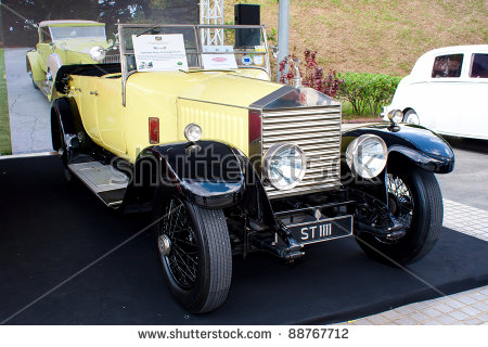 Antique Car Headlights Rolls Royce Stock Photos, Royalty.
