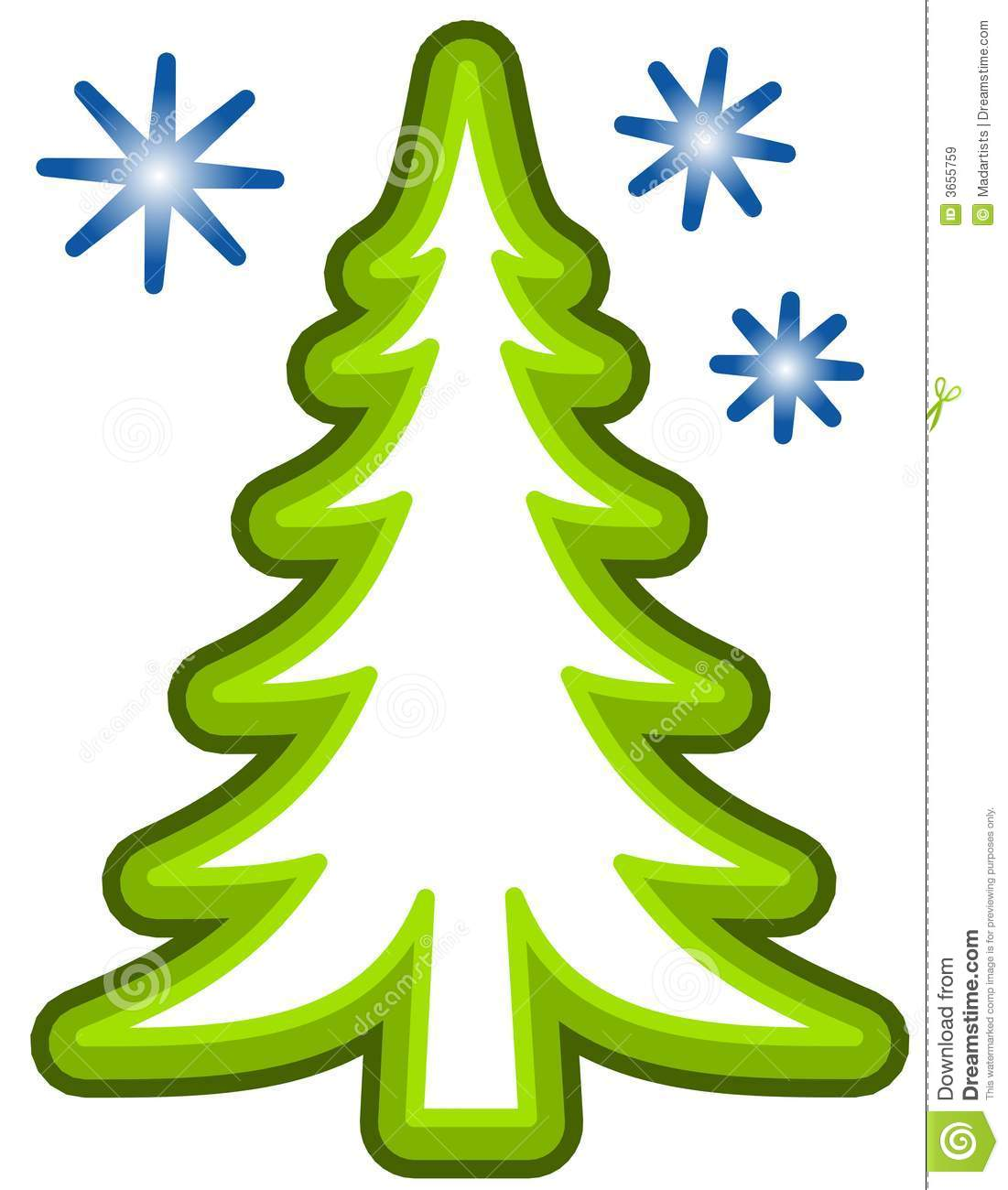 Simple Christmas Tree Clip Art Royalty Free Stock Images.