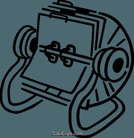 Rolodex Royalty Free Vector Clip Art illustration.