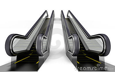 3d Render Escalator Stock Photos, Images, & Pictures.