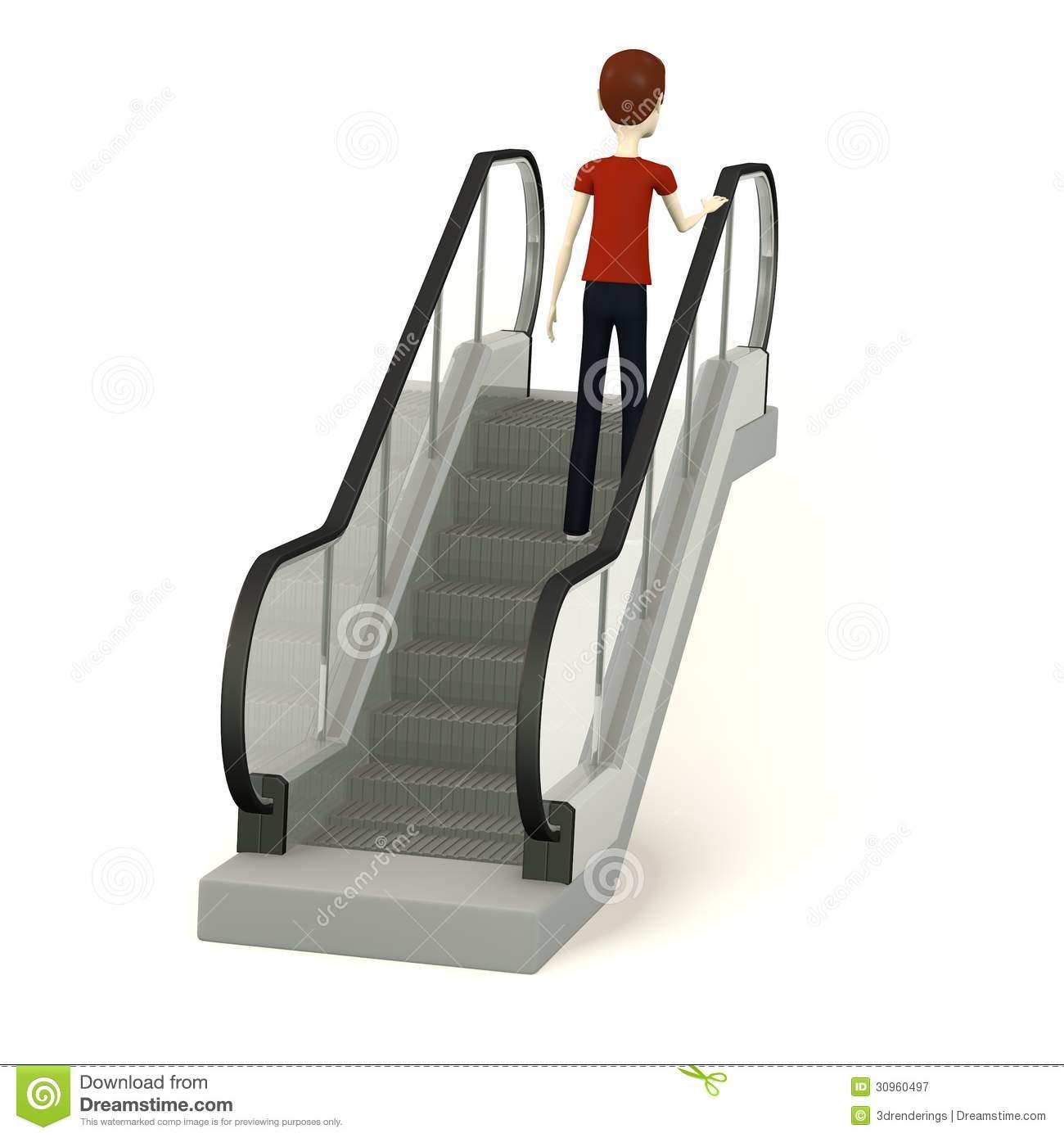 Metro Escalator Stock Illustrations.
