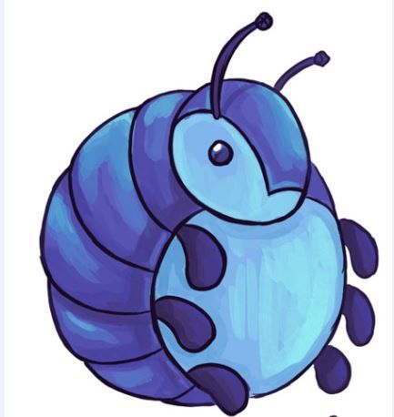 Roly Poly Bug Clipart.