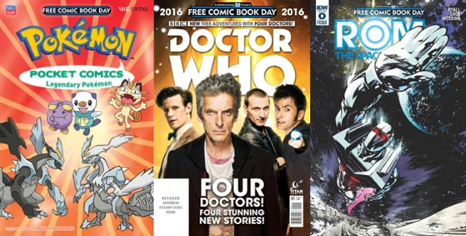 Free Comic Book Day 2016 Gold Books Include Avengers, Doctor Who.