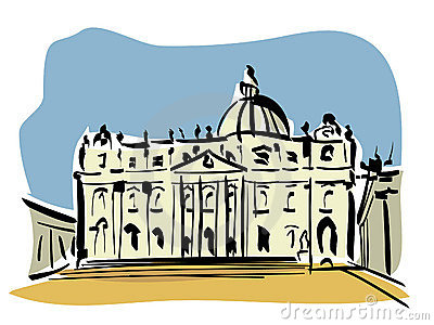 St Peter's Basilica Stock Illustrations.