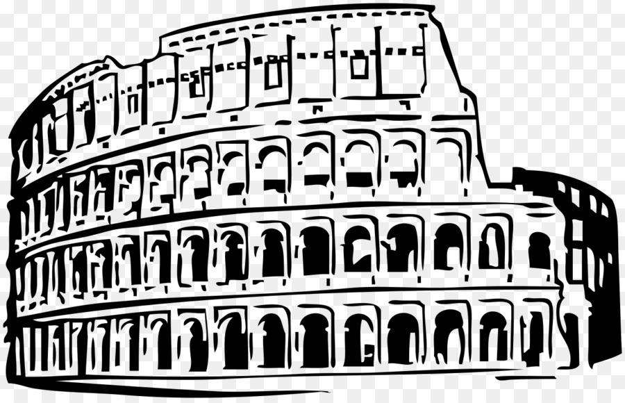 Rome clipart colosseum logo, Rome colosseum logo Transparent.
