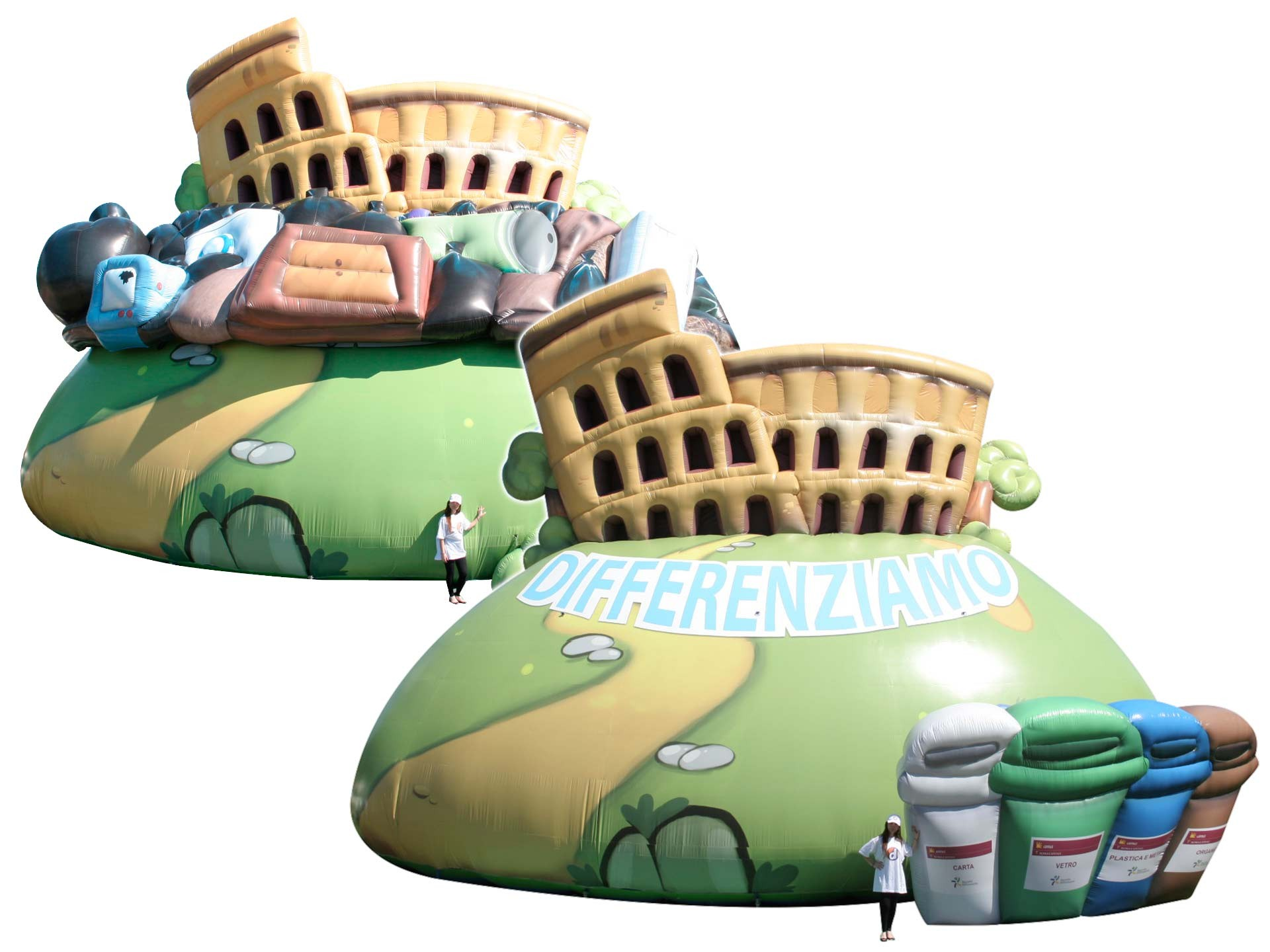 Inflatable Roma Coloseum.