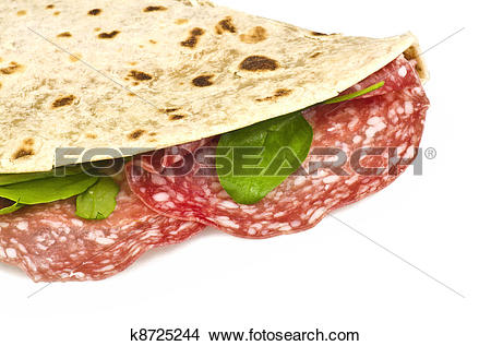 Stock Photo of Piadina Romagnola.