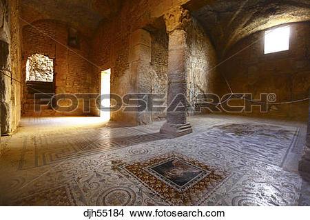 Stock Photo of Africa, Tunisia, Bulla Regia Archaeological Site.