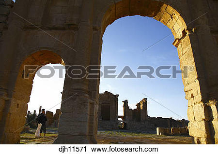 Stock Photography of Africa, Tunisia, Sbeitla Archaeological Site.