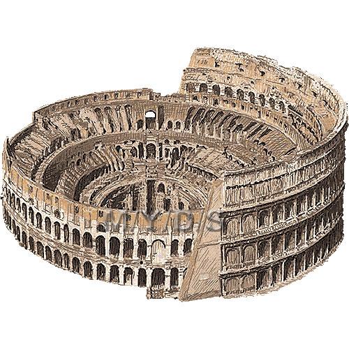 Colosseum, Roman Coliseum clipart / Free clip art.