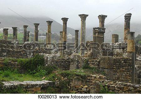 Stock Photo of Algeria, Kabylia, Djemila (Cuicul), Roman.