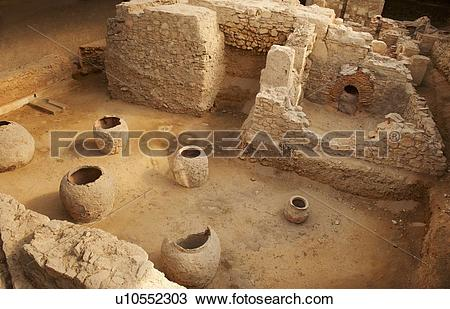 Stock Photo of Greece, Athens, Archaeological site of Roman Bath.