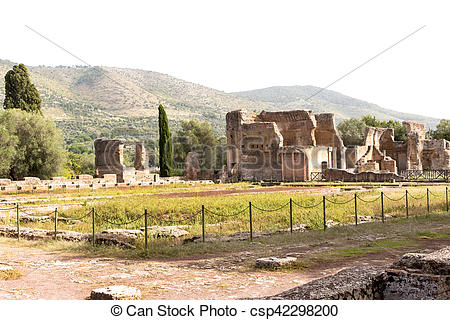 Stock Photography of Hadrian villa, adriana is a large roman.