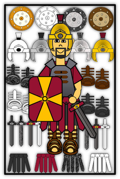 Roman Soldier and Armor Clip Art.