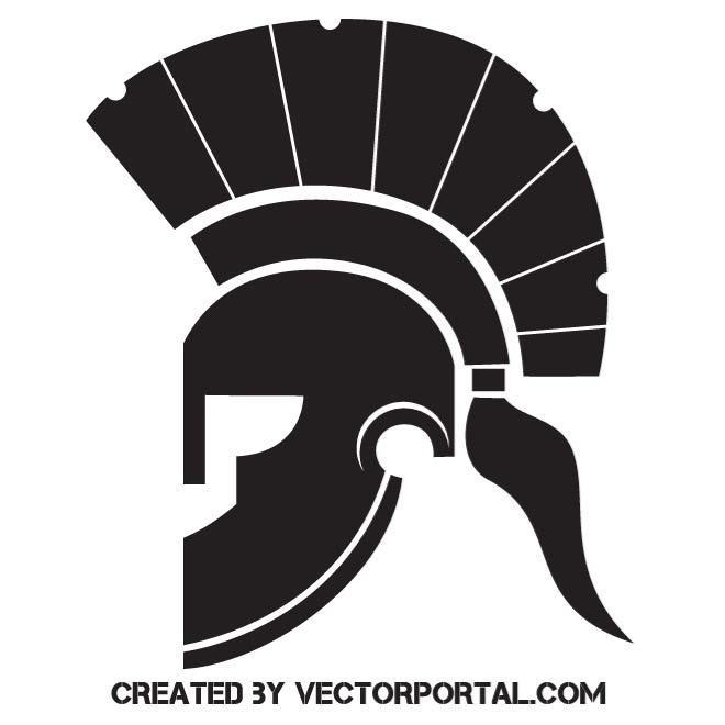 ROMAN HELMET VECTOR CLIP ART.